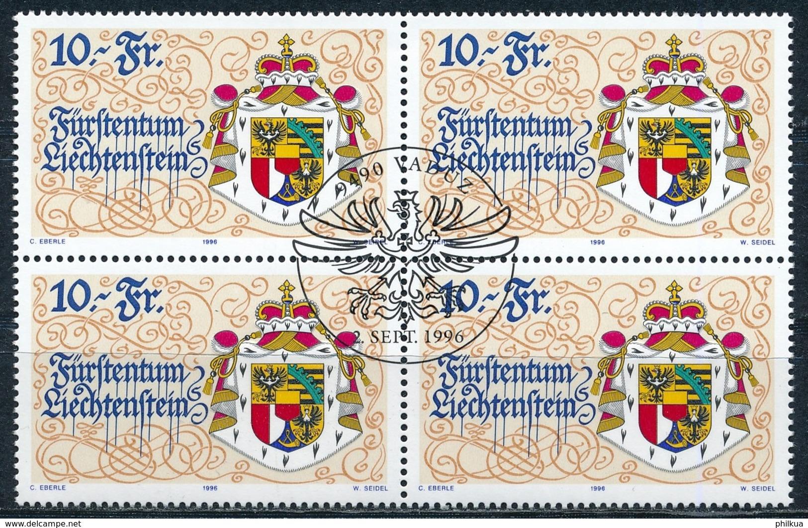 Zumstein 1078 / Michel 1136 Viererblockserie Mit ET-Zentrumstempel - Used Stamps