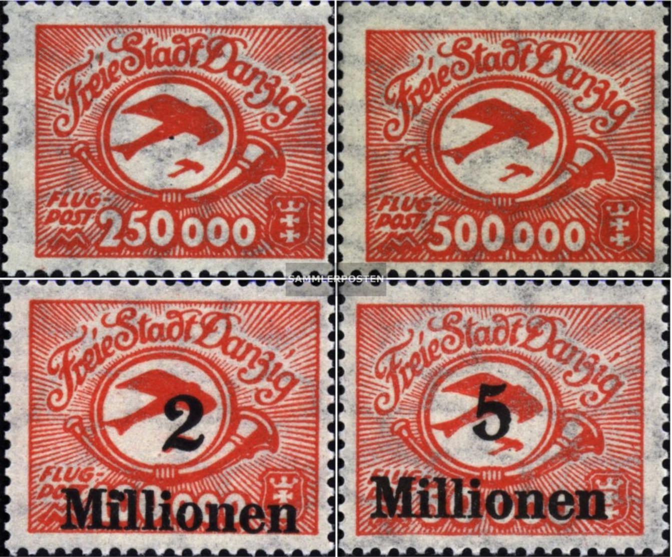 Danzica 177-180 (completa Edizione) MNH 1923 Airmail - Dantzig