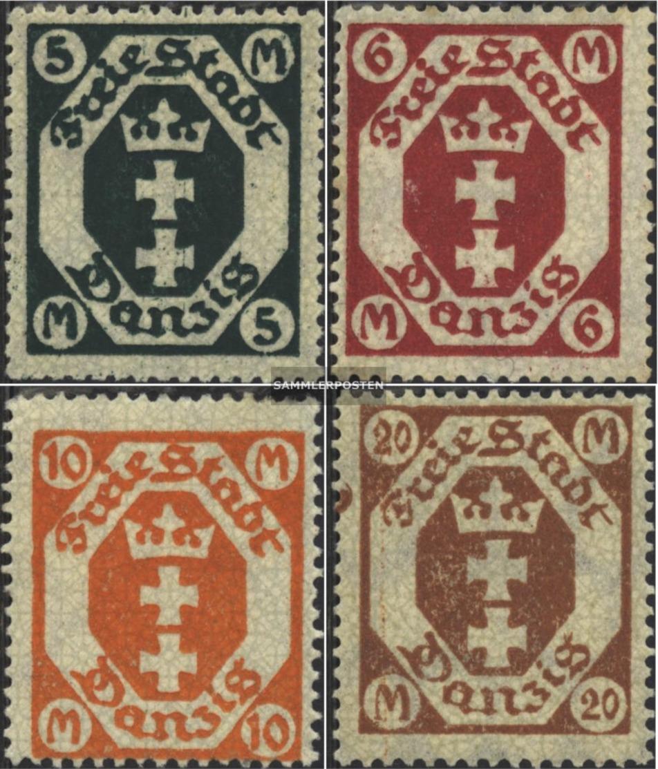 Danzica 108-111 (completa Edizione) Favor Svalutazione Usato 1922 Francobolli - Dantzig