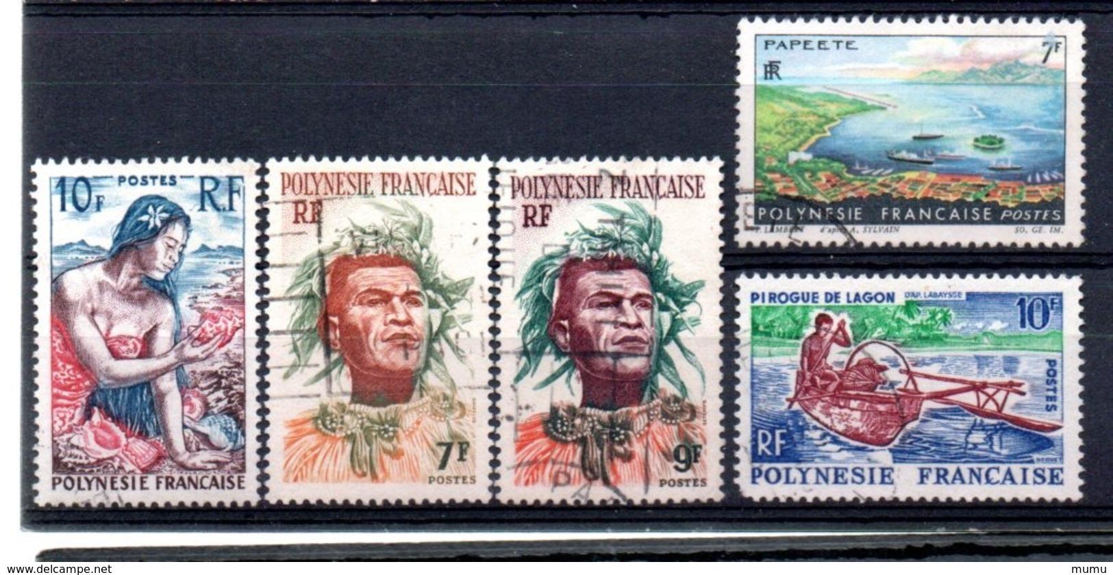 POLYNESIE OB  YT N° 9  7  8  32  36 - Polinesia Francese