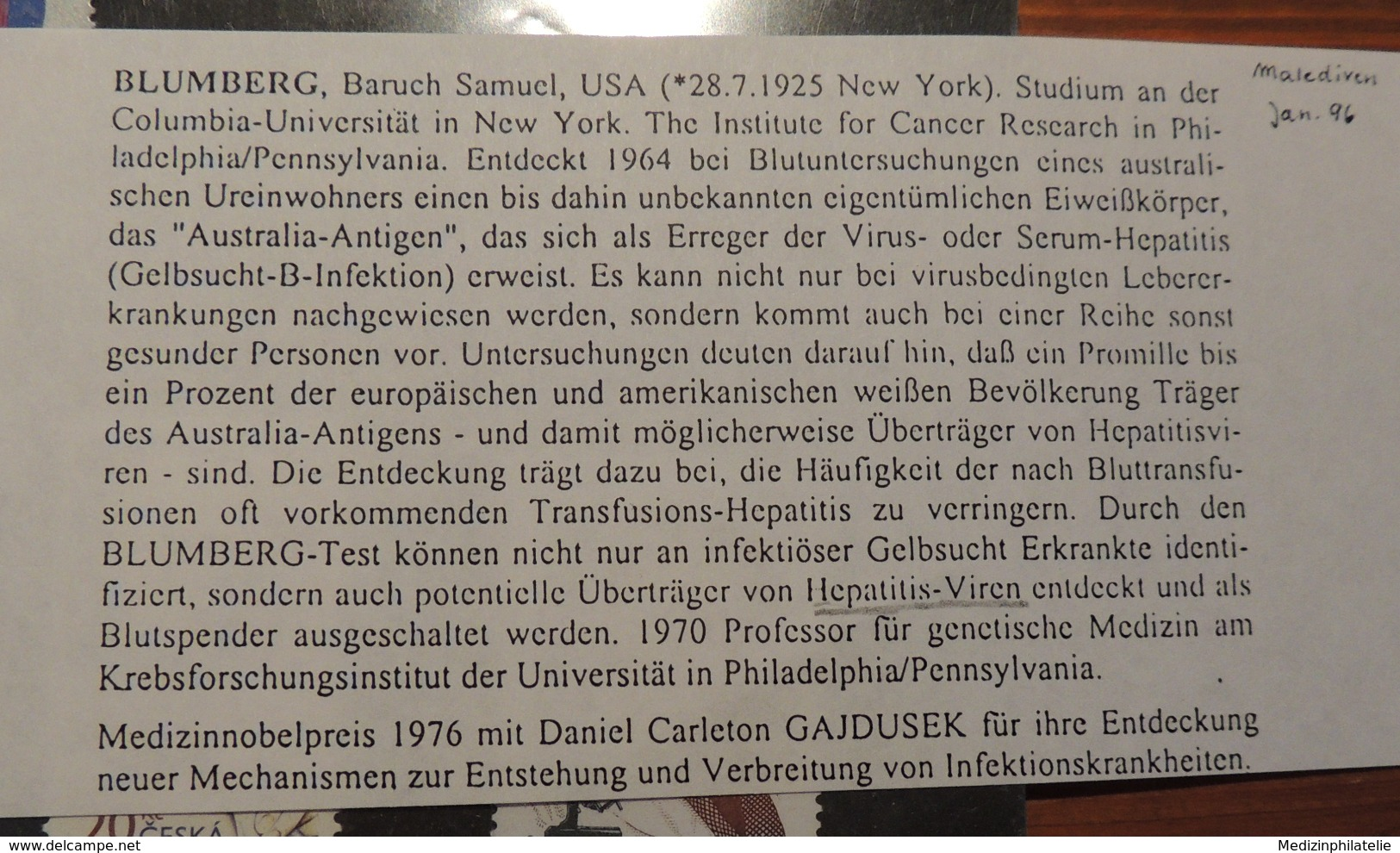 Herz Liebe - Holy - Edmond Locard - Baruch Blumberg Australische Ureinwohner Eiweisskörper Australia Antigen Hepatitis - Medicina