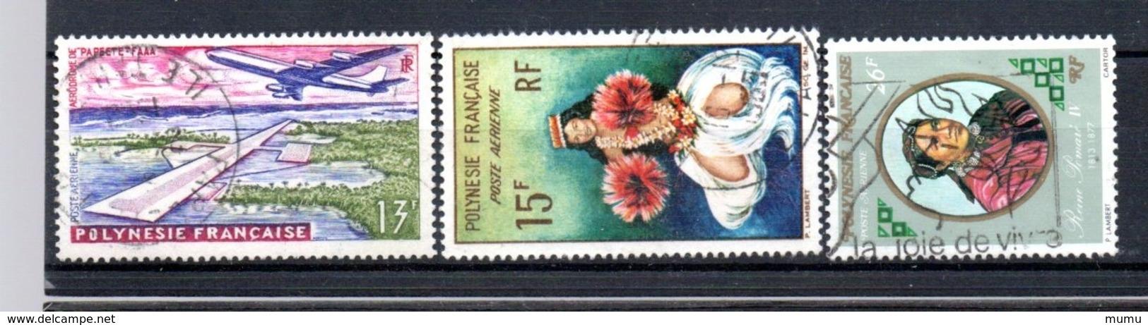 POLYNESIE OB  YT N°  PA  5  7  108 - Airmail