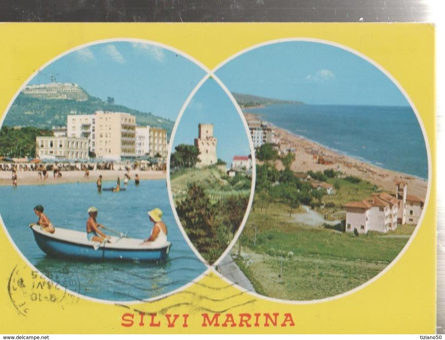 SILVI MARINA.VEDUTE DIVERSE.VIAGGIATA-1975-FG-MT.2009 - Teramo