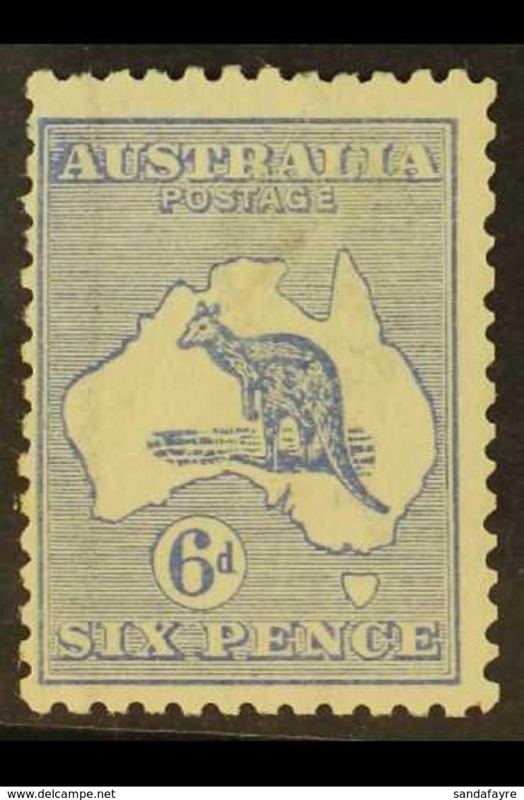 1915-27  6d Ultramarine, Third Wmk, Retouched Shading In NW Corner, Brusden White 19(U)g, Good To Fine Mint. For More Im - Australia
