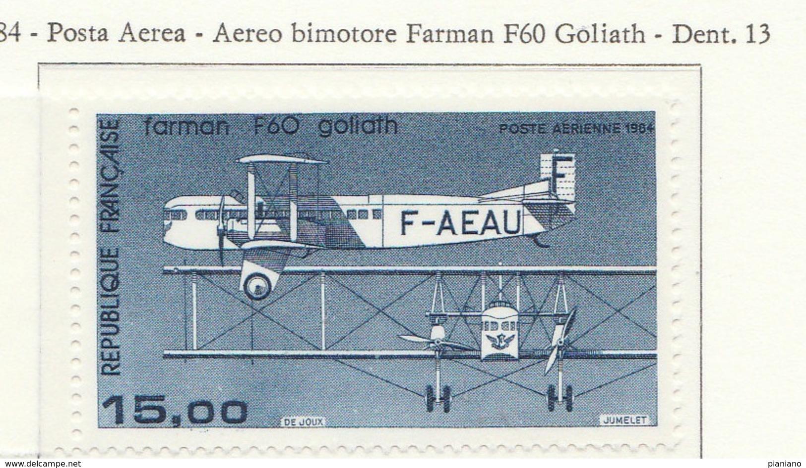 PIA - FRA - 1984 : Aereo Bimotore Farman F60 Goliath  - (Yv P.A. 57) - Nuovi