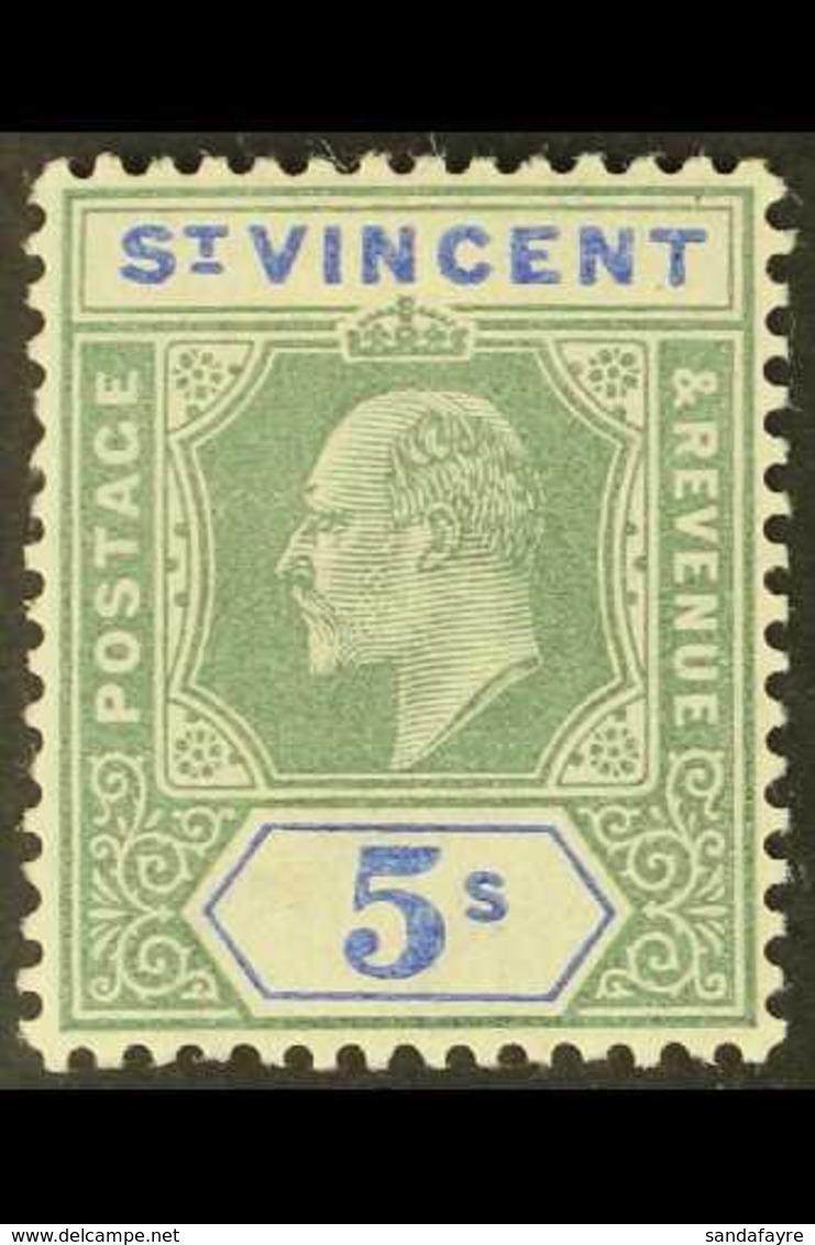 1902  5s Green & Blue, SG 84, Very Fine Mint For More Images, Please Visit Http://www.sandafayre.com/itemdetails.aspx?s= - St.Vincent (...-1979)
