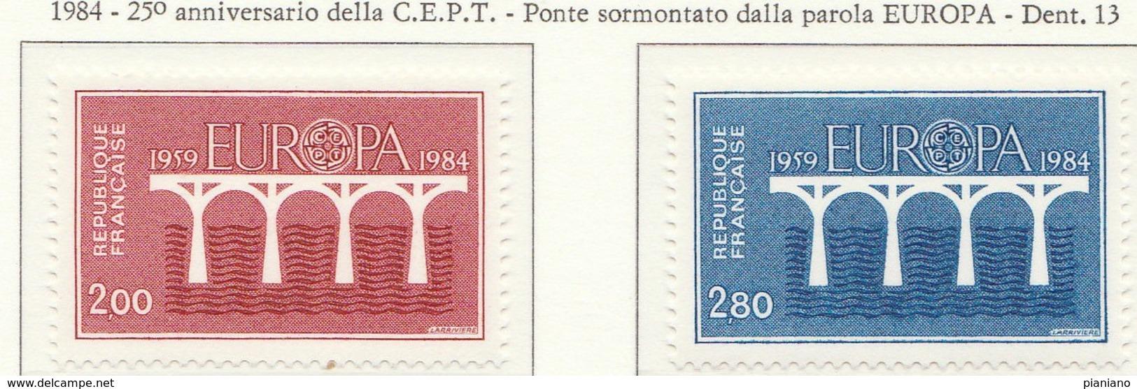 PIA  -  FRANCIA  -  1984  :  Europa  (Yv  2309-10) - 1984