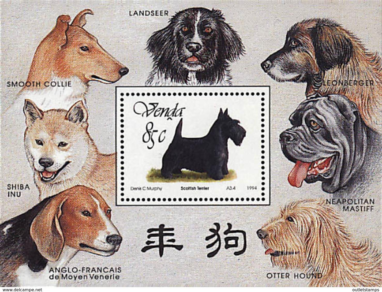 Ref. 49668 * NEW *  - VENDA . 1994. PEDIGREE DOGS. PERROS DE RAZA - Venda