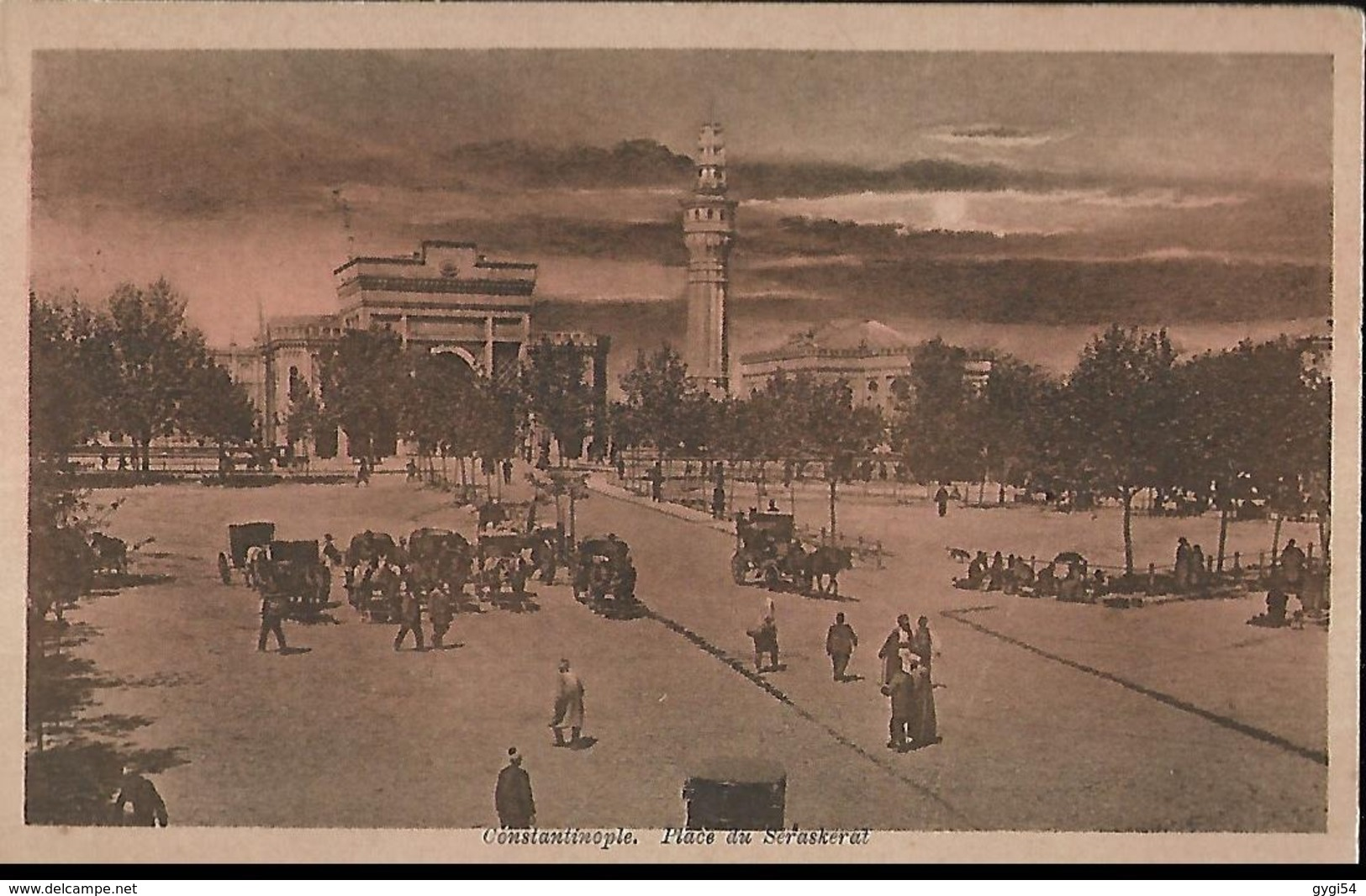 Constantinople  Place Du Seraskeral Trésor Et Poste 1923  Corps D' Occupation - Turquie