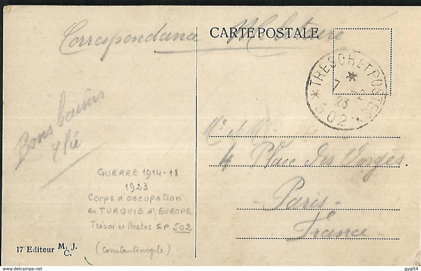 Constantinople  Place Du Seraskeral Trésor Et Poste 1923  Corps D' Occupation - Türkei