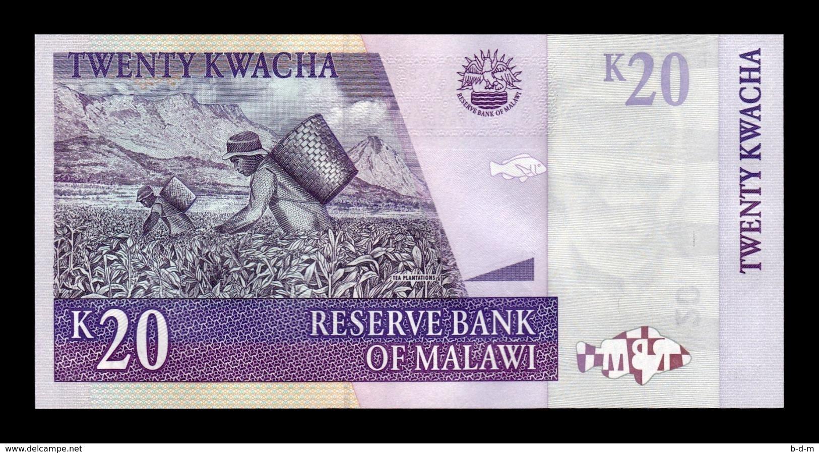 Malawi 20 Kwacha 2007 Pick 52c SC UNC - Malawi