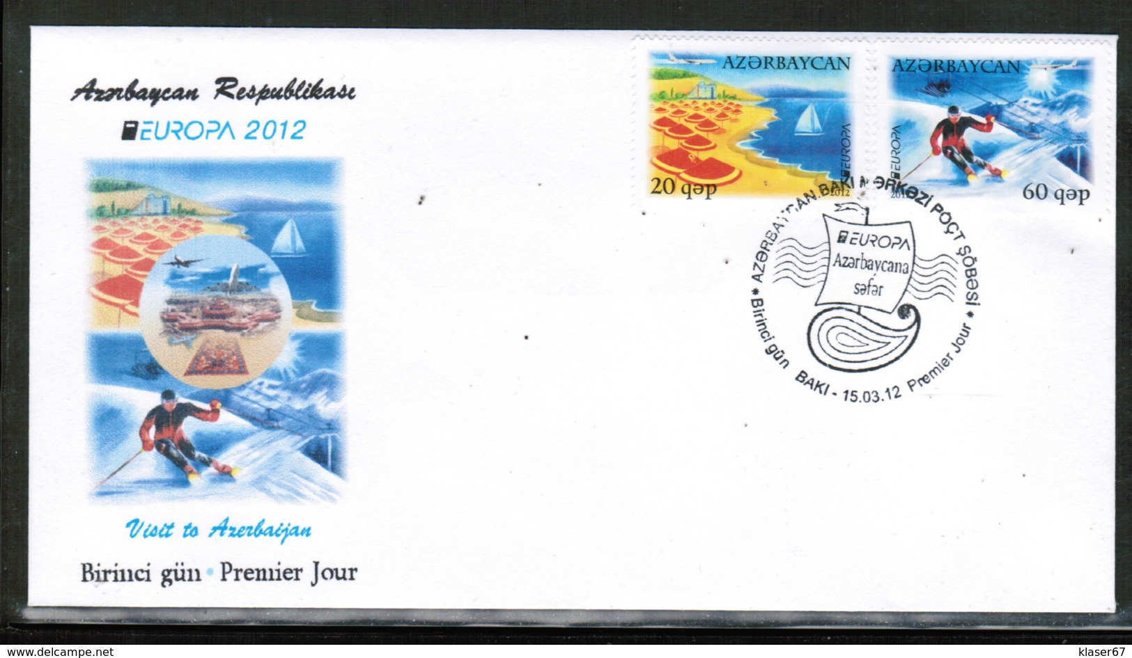 CEPT 2012 AZ MI 915-16 AZERBAIJAN FDC - Europa-CEPT