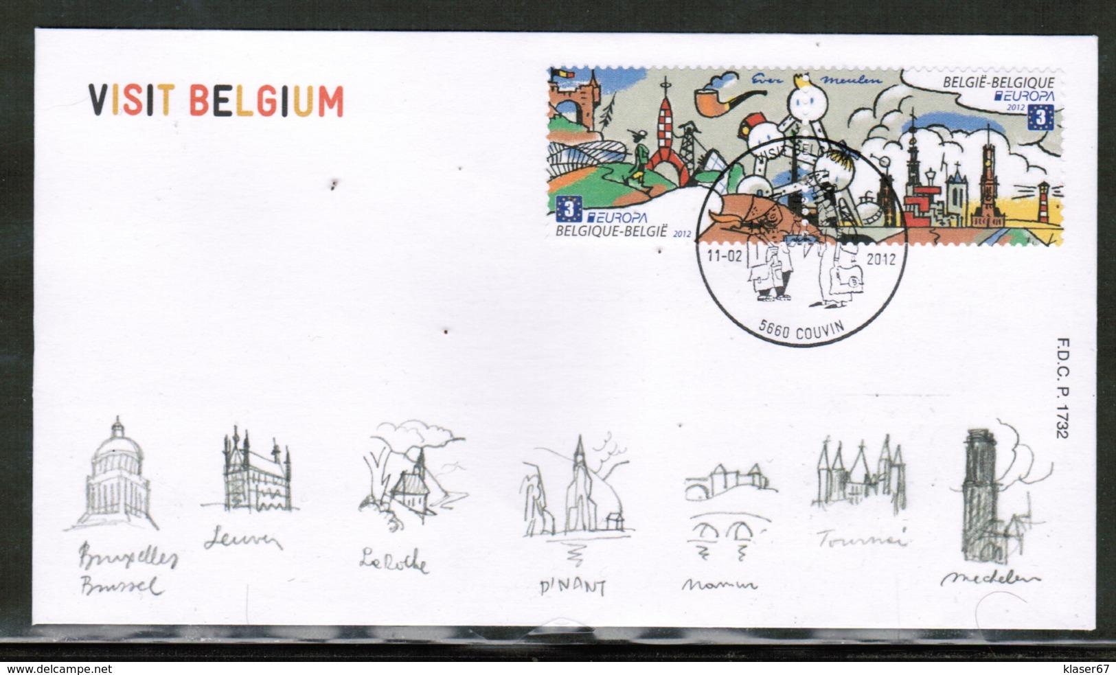 CEPT 2012 BE MI 4262-63 BELGIUM FDC - Europa-CEPT