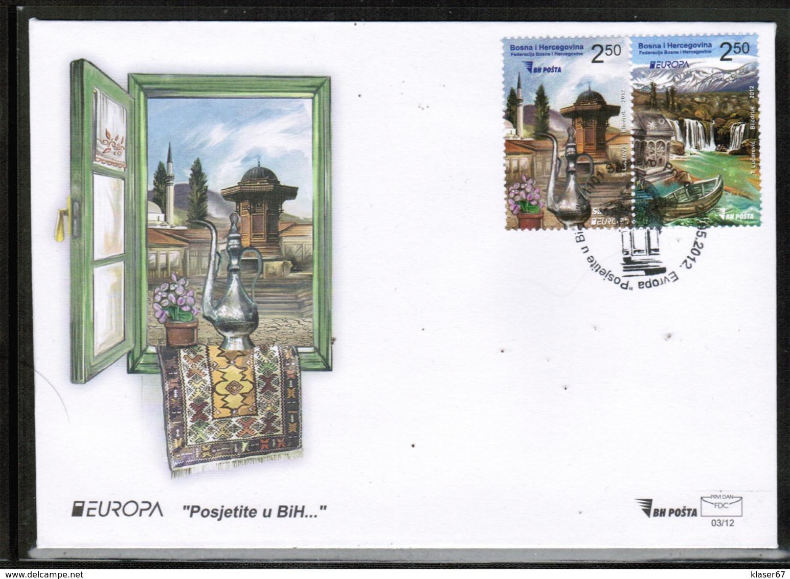 CEPT 2012 BA MI 589-90 BOSNIA AND HERZEGOVINA FDC - 2012