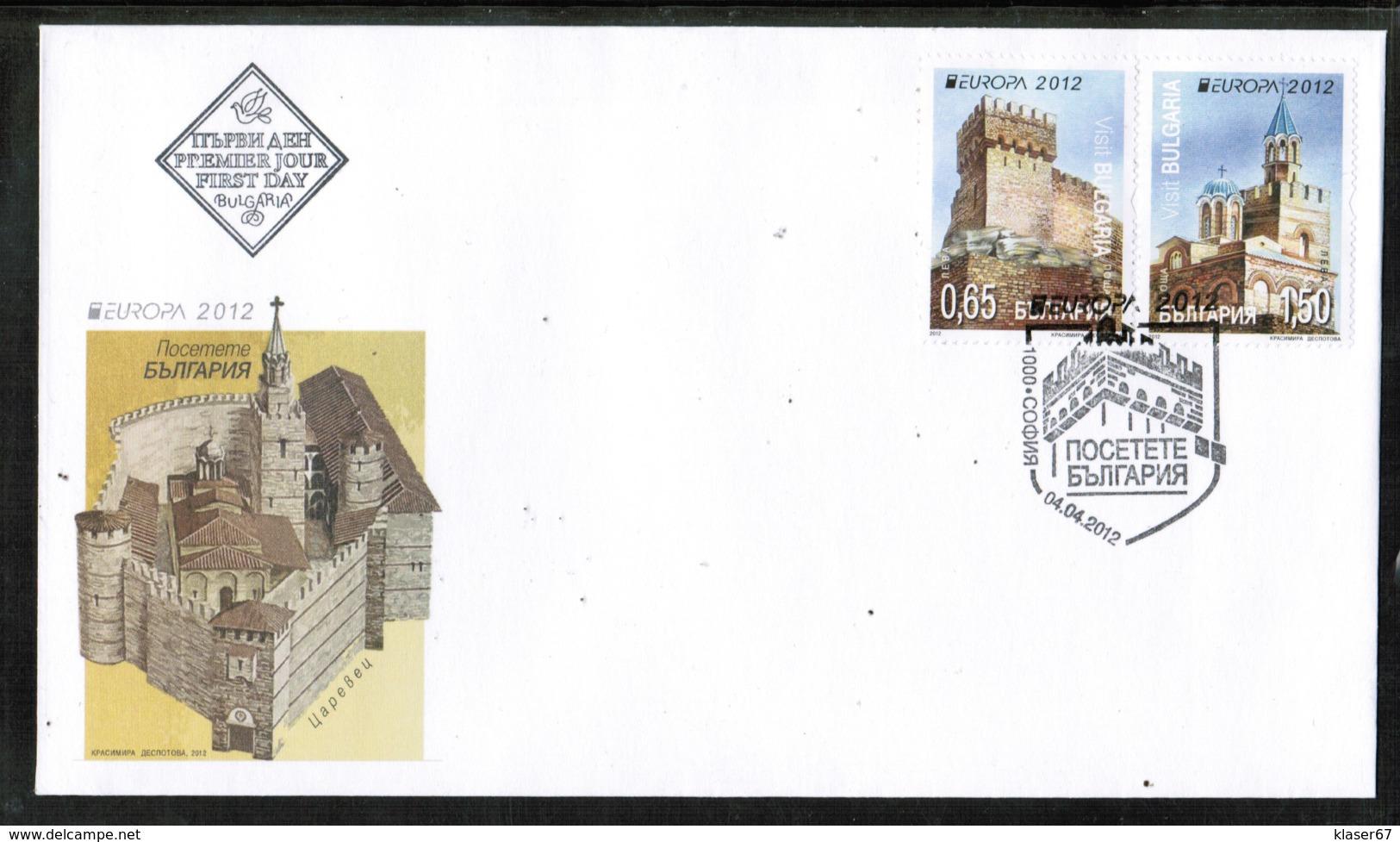 CEPT 2012 MI 5032-33 BULGARIA FDC - Europa-CEPT