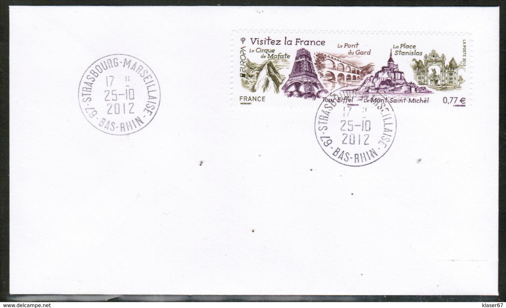 CEPT 2012 FR MI 5420 FRANCE FDC - Europa-CEPT