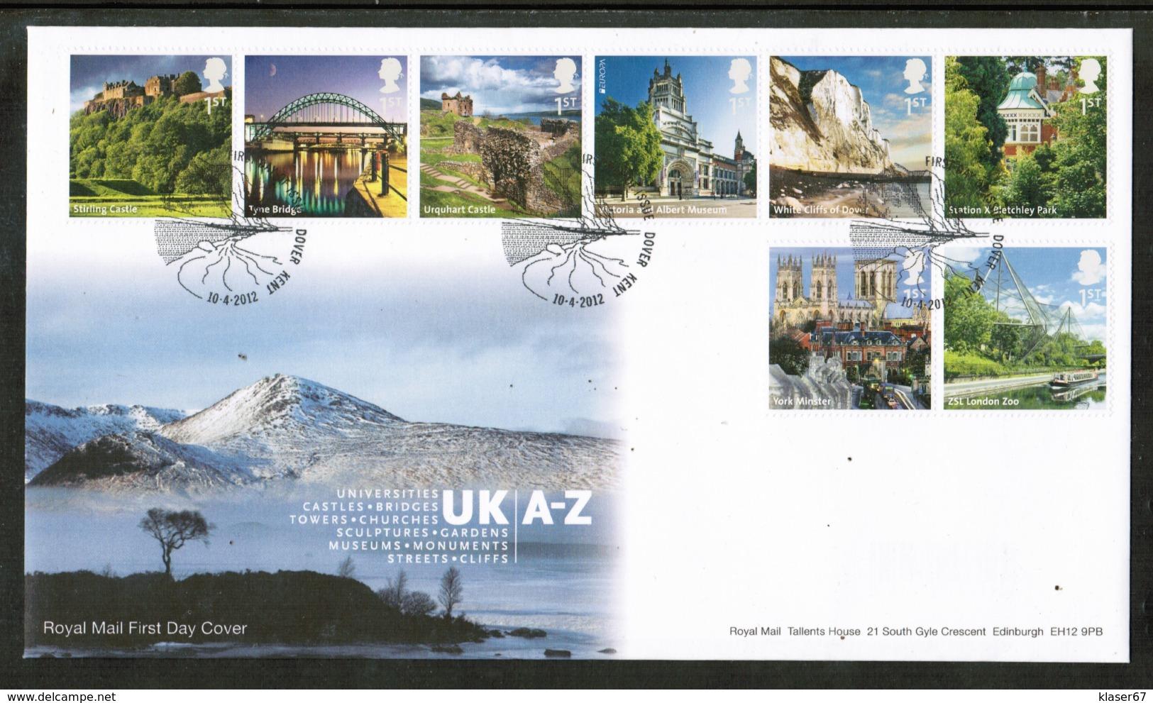 CEPT 2012 GB MI 3241-48 GREAT BRITAIN FDC - Europa-CEPT