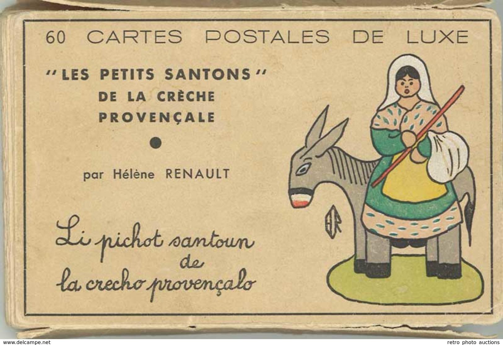 TB/B Pochette 57 CPA «les Petits Santons « De La Crèche Provençale Par Hélène Renault - France