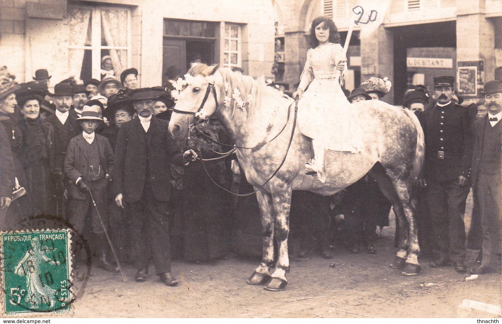 1910 CARTE PHOTO CONCOURS DE CHEVAUX.???....AVRANCHES ???????? - Avranches