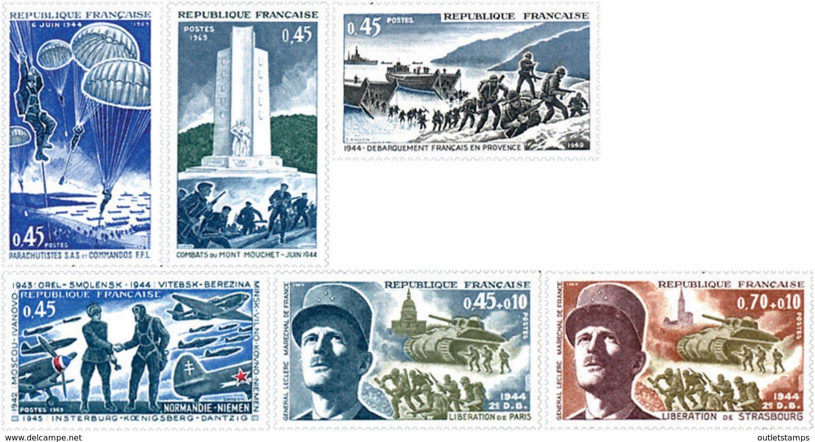 Ref. 122159 * NEW *  - FRANCE . 1969. 25th LIBERATION ANNIVERSARY . 25 ANIVERSARIO DE LA LIBERACION - Nuevos