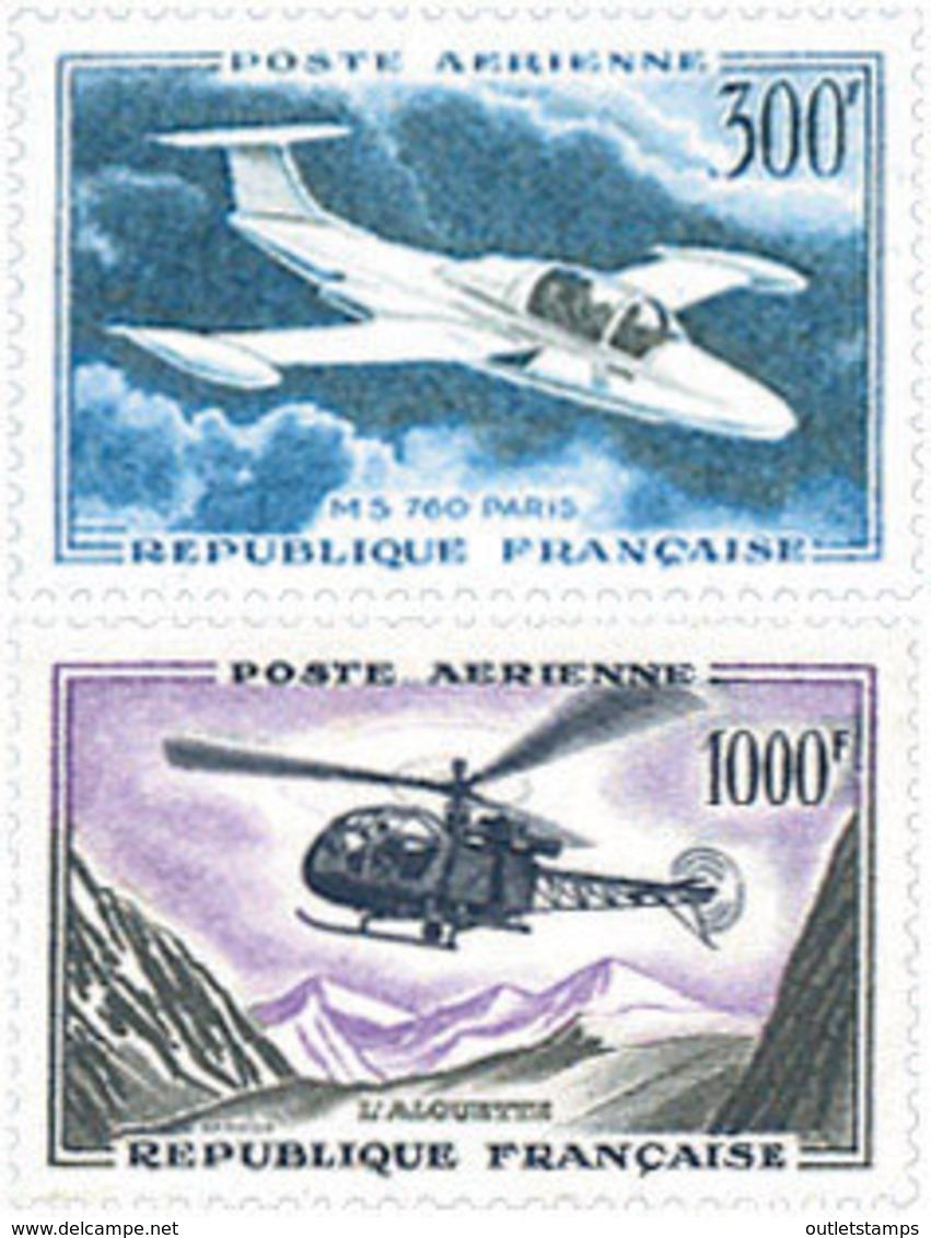 Ref. 297610 * HINGED *  - FRANCE . 1957. AIRCRAFTS. AVIONES - Nuevos