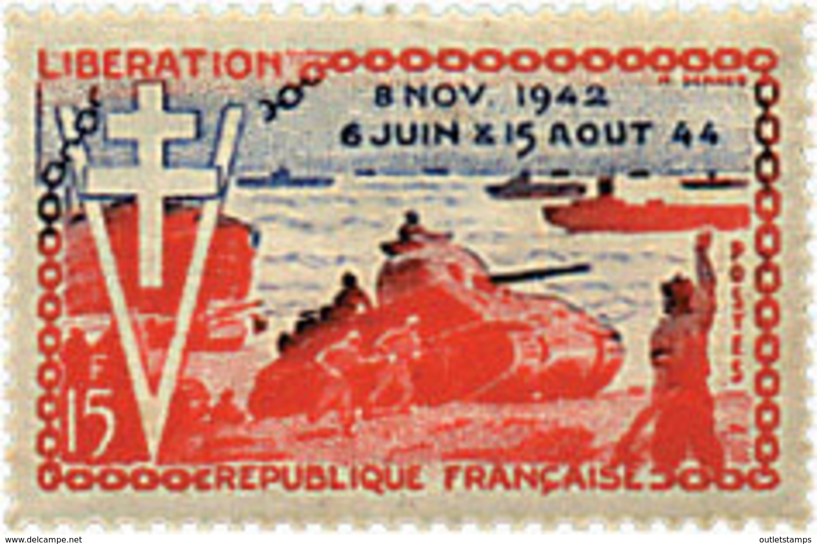Ref. 41067 * NEW *  - FRANCE . 1954. 10th ANNIVERSARY OF LIBERATION. 10 ANIVERSARIO DE LA LIBERACION - Nuevos
