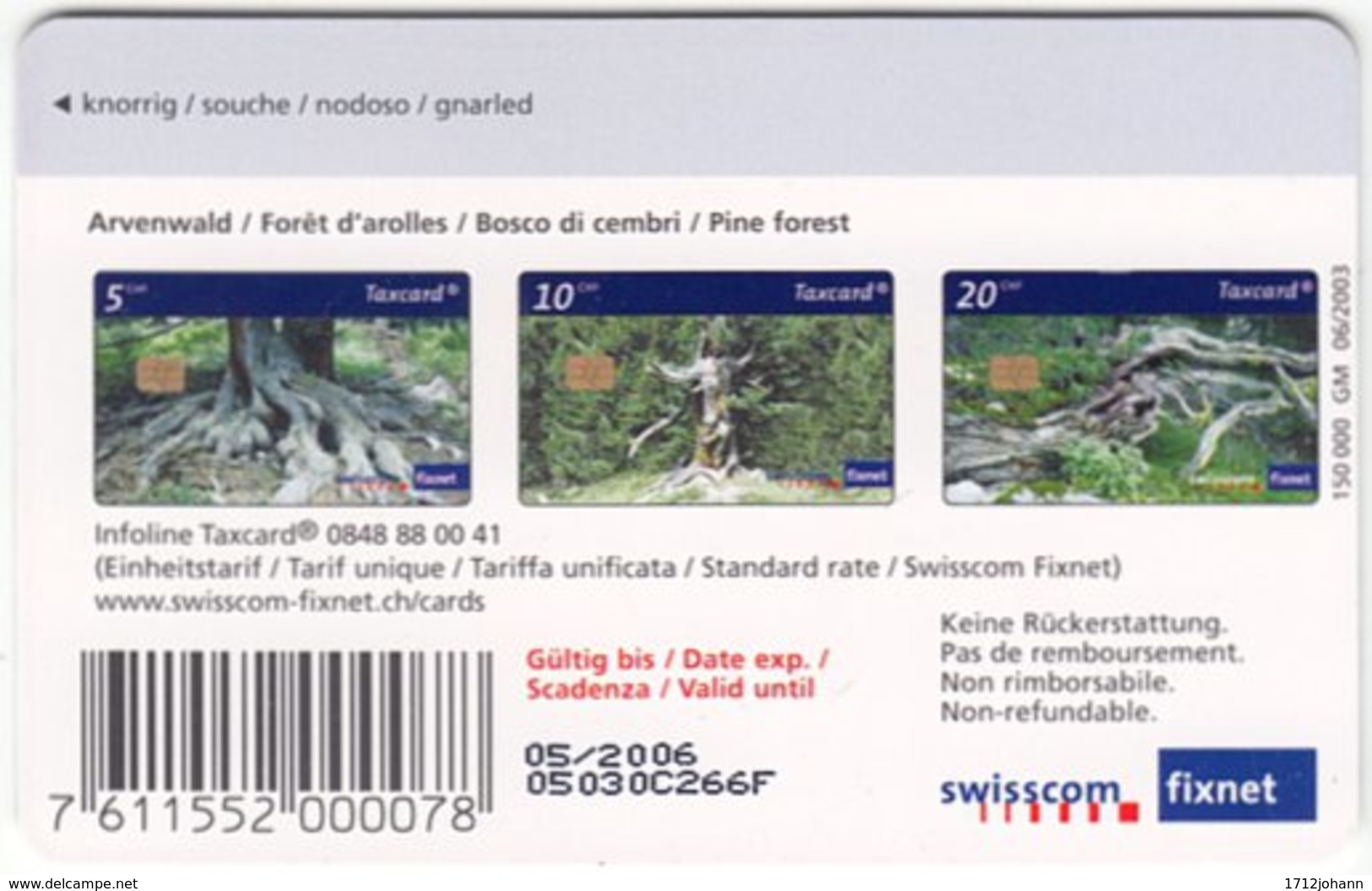 SWITZERLAND C-230 Chip Swisscom - Plant, Tree - Used - Suisse