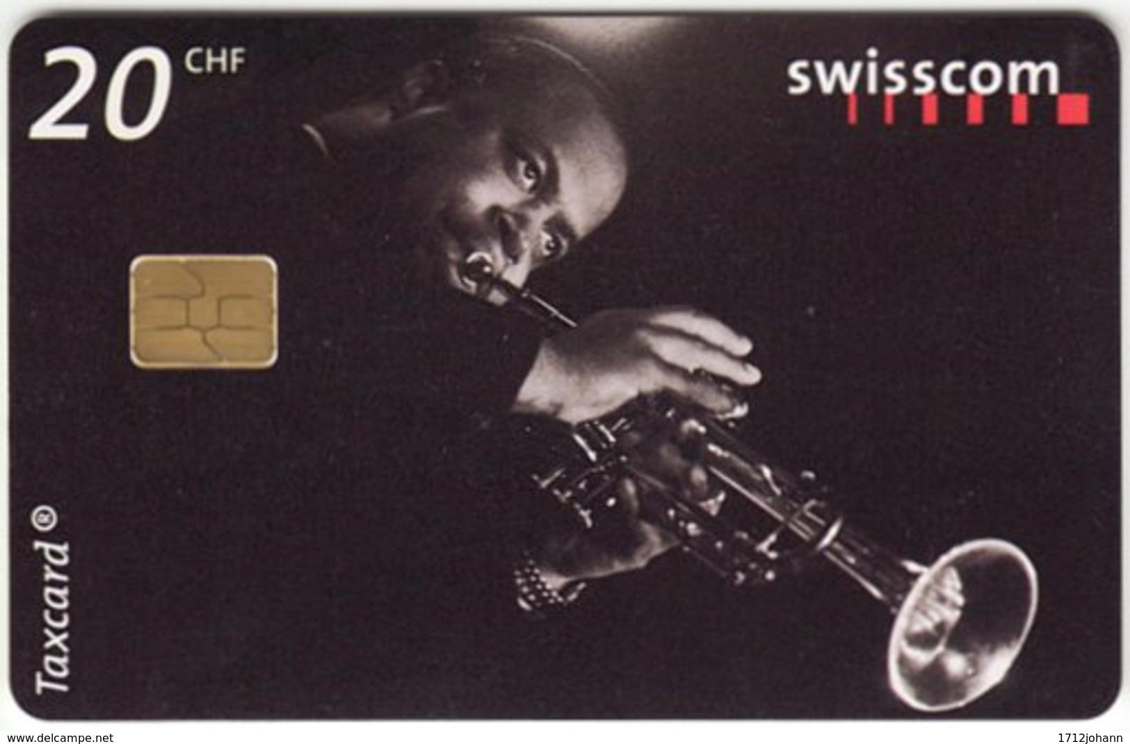 SWITZERLAND C-233 Chip Swisscom - Musician, Jazz - Used - Suisse