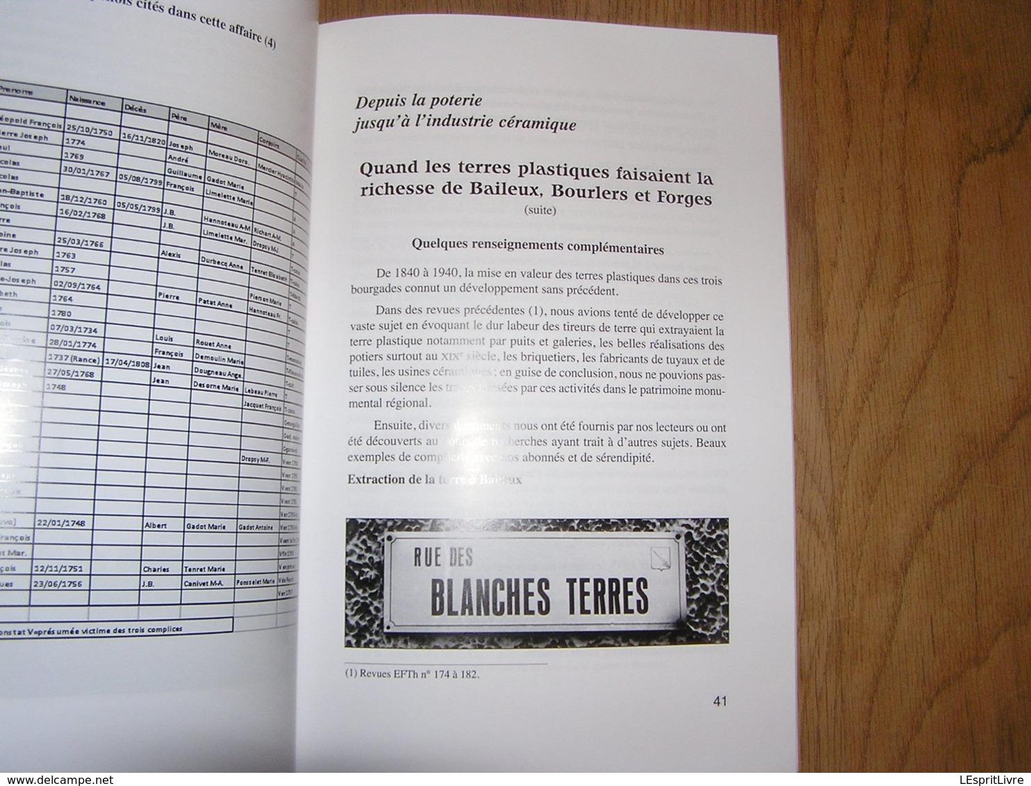 EN FAGNE ET THIERACHE N° 190 Régionalisme Frontière Douane Douanier Contrebandiers Fraude Terres Plastiques Forges Garde - België