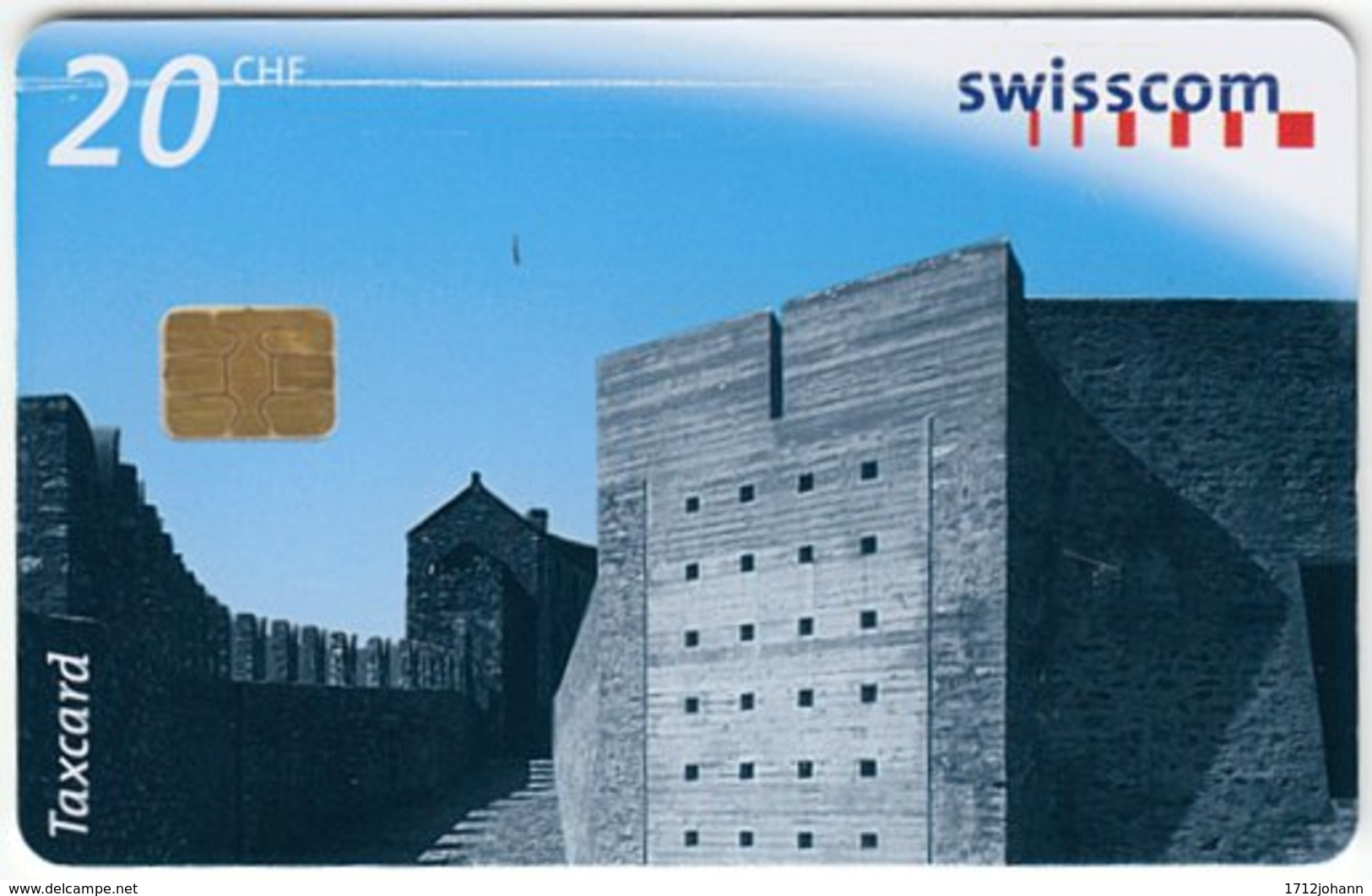 SWITZERLAND C-317 Chip Swisscom - Architecture, Modern Building - Used - Zwitserland