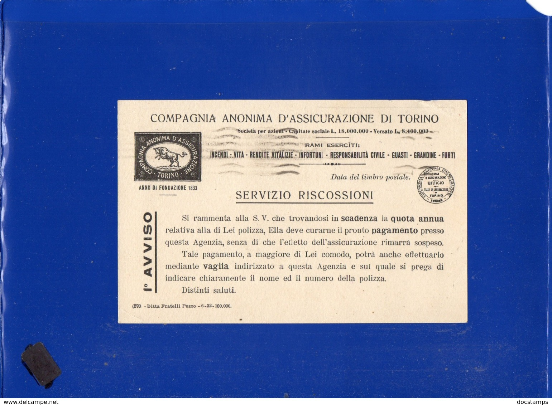 ##(DAN1911)-Italia 10-2-1933-Cartolina Compagnia Anonima D'Assicurazioni Di Torino Da Brescia Per Orzivecchi - Storia Postale