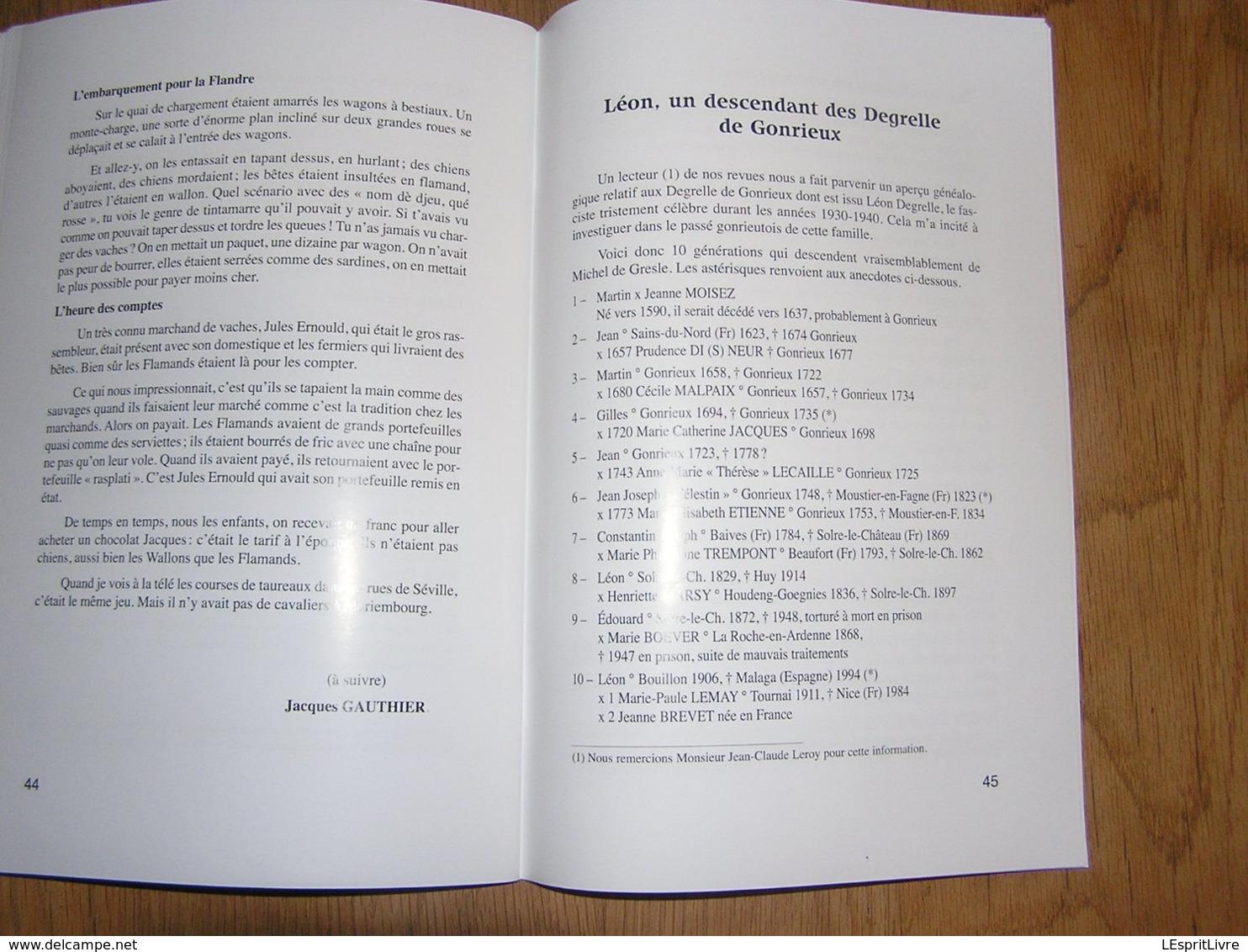 EN FAGNE ET THIERACHE N° 195 Régionalisme Sabotiers Gonrieux Presgaux Baron Pesche Brasserie Degrelle Forges Mariembourg - Cultuur