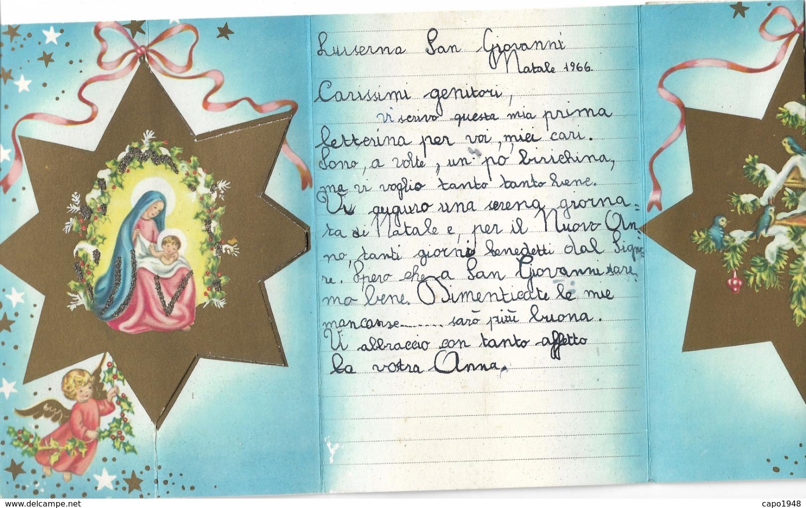 CARD LETTERINA DI NATALE   2 SCANNER-FG-N-2-0882-29194-195 - Kerstmis