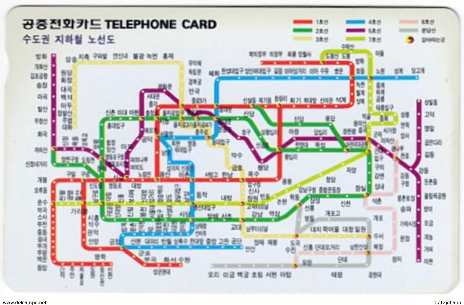 SOUTH KOREA A-688 Magnetic Telecom - Map - Used - Korea (Zuid)