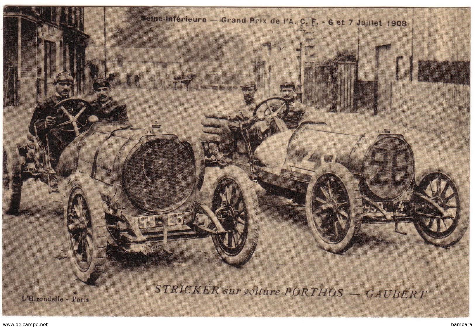 Grand Prix De L'A.C.F - STRICKER  Sur PORTHOS-GAUBERT - Frankrijk