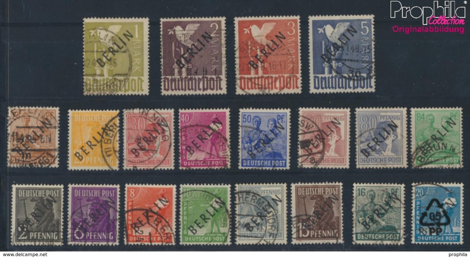 Berlin (West) 1-20 (kompl.Ausg.) Geprüft Mit Attest Gestempelt 1948 Schwarzaufdruck (9350454 - Berlin (West)