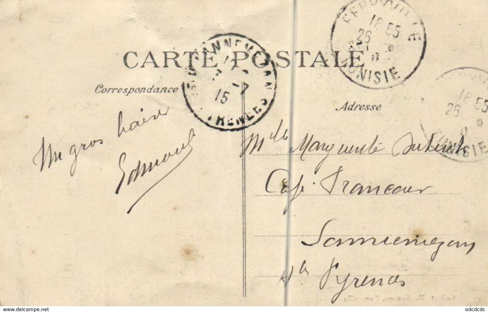 FERRYVILLE Rue Amiral Courbet Epicerie Algerienne Animée RV - Túnez