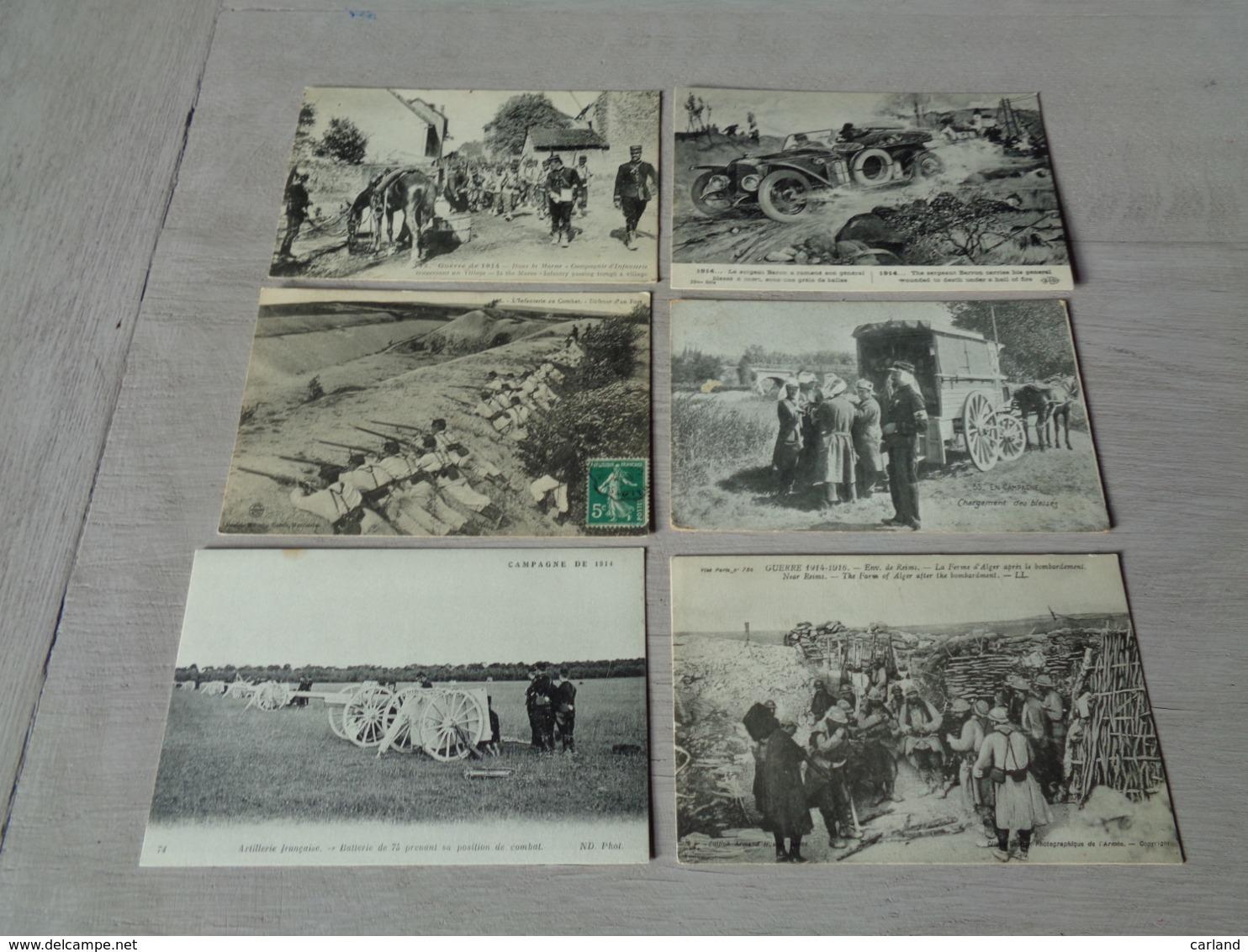 Beau Lot De 20 Cartes Postales De L' Armée Française  Guerre 1914 - 1918 Mooi Lot Van 20 Postkaarten Frans Leger  Oorlog - Cartes Postales