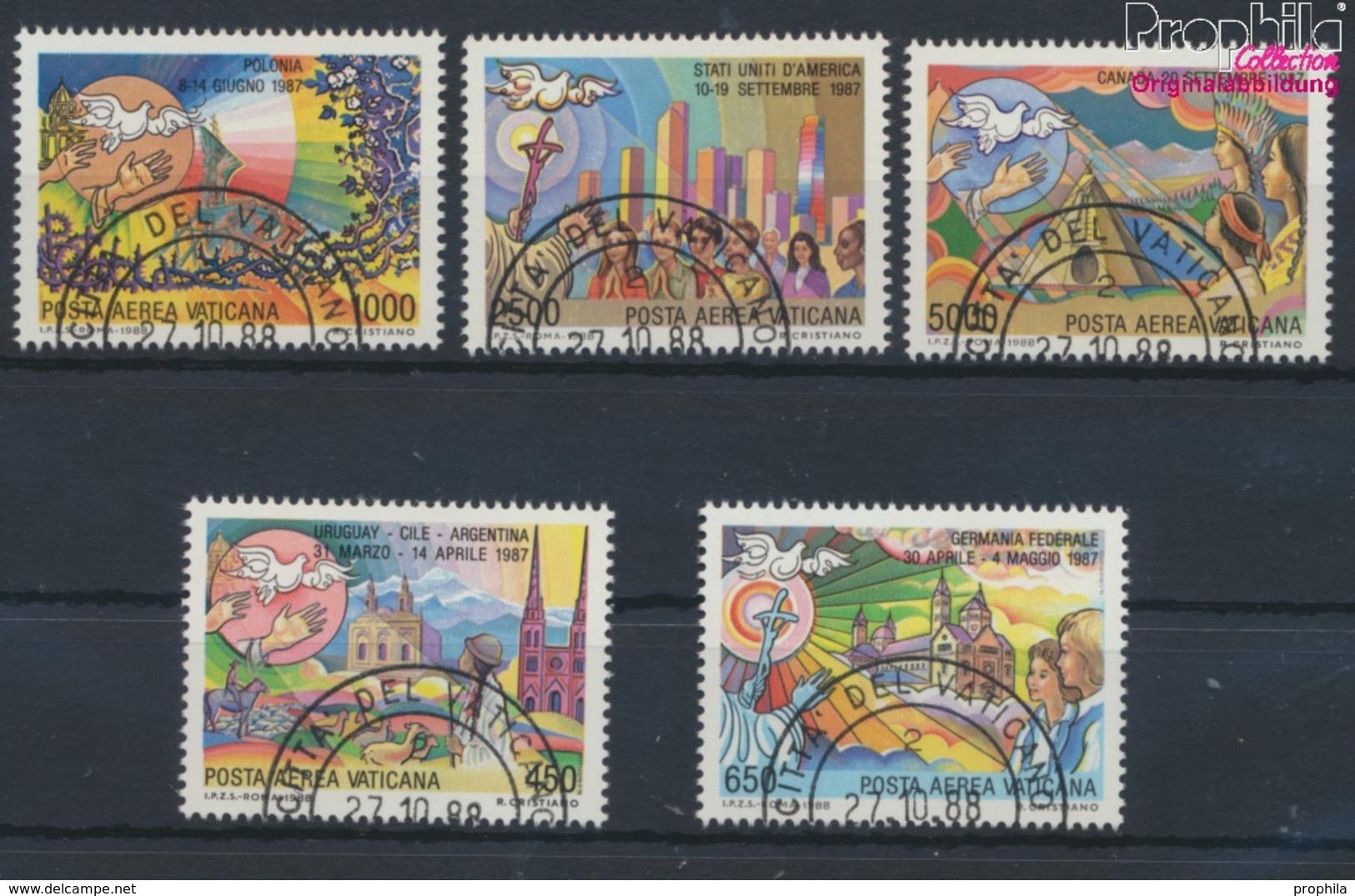 Vatikanstadt 952-956 (kompl.Ausgabe) Gestempelt 1988 Papstreisen (9361602 - Used Stamps