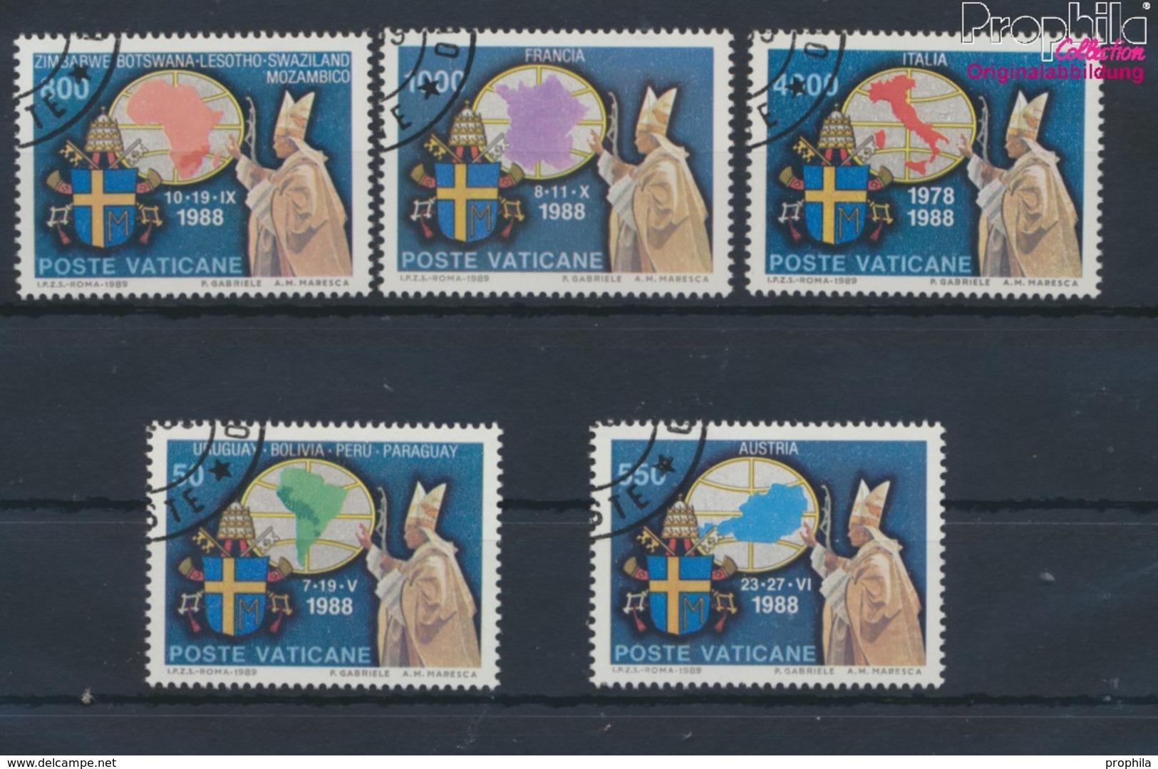 Vatikanstadt 988-992 (kompl.Ausgabe) Gestempelt 1989 Papstreisen (9361608 - Vaticano (Ciudad Del)
