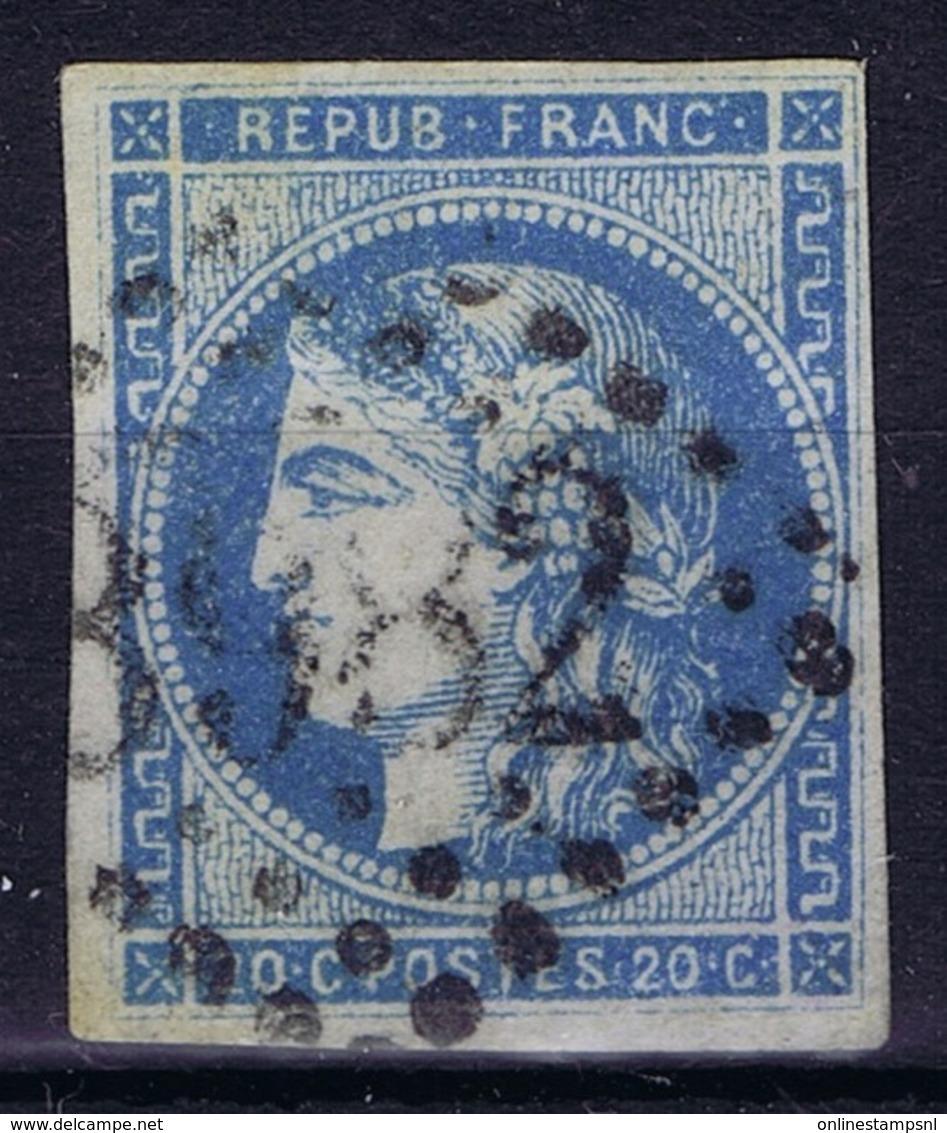 France: Bordeaux 45 A Type II Rep 1 No Shading Under Eye Nice Borders - 1870 Uitgave Van Bordeaux