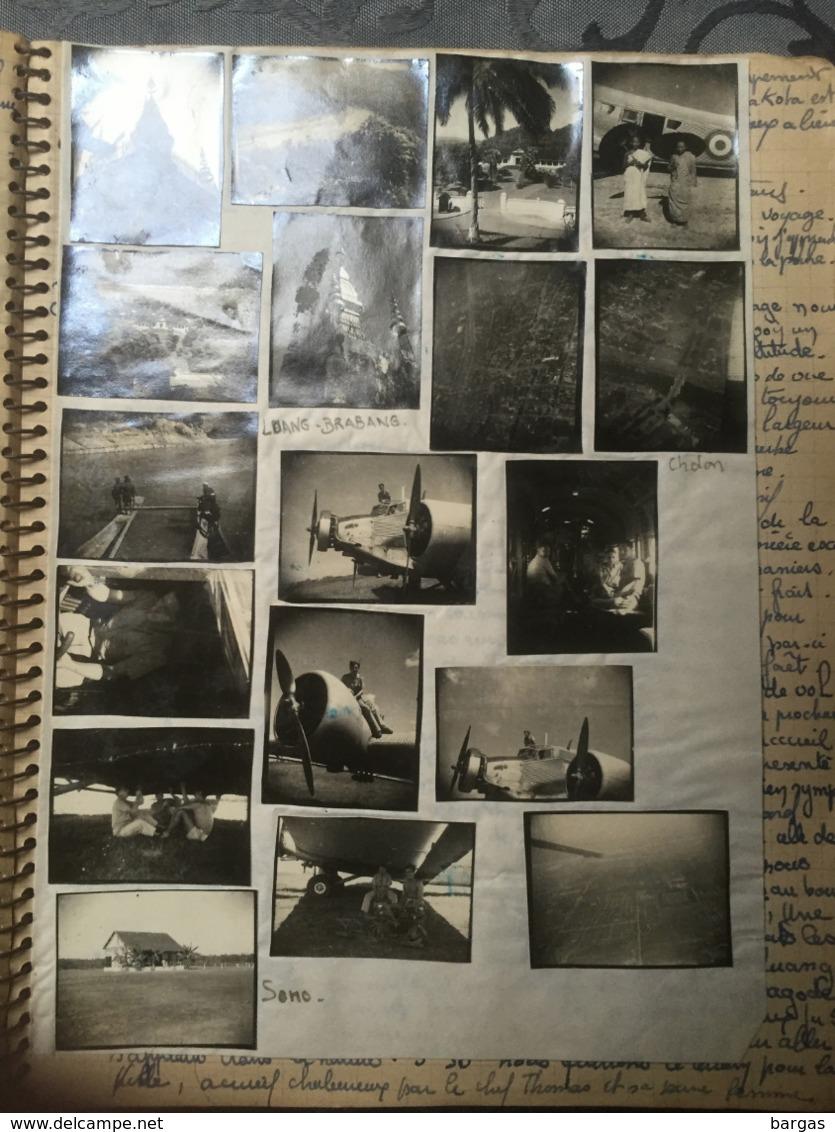 RARE Album Photo Journal D'un Pilote BTA 247 Aviation Française En Indo Chine Crash Avion Dakota Shangaï 1948 - Albums & Collections