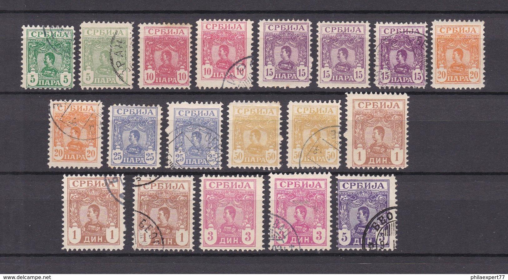 Serbien - 1901/03 - Michel Nr. 53/61 - 60 Euro - Serbien