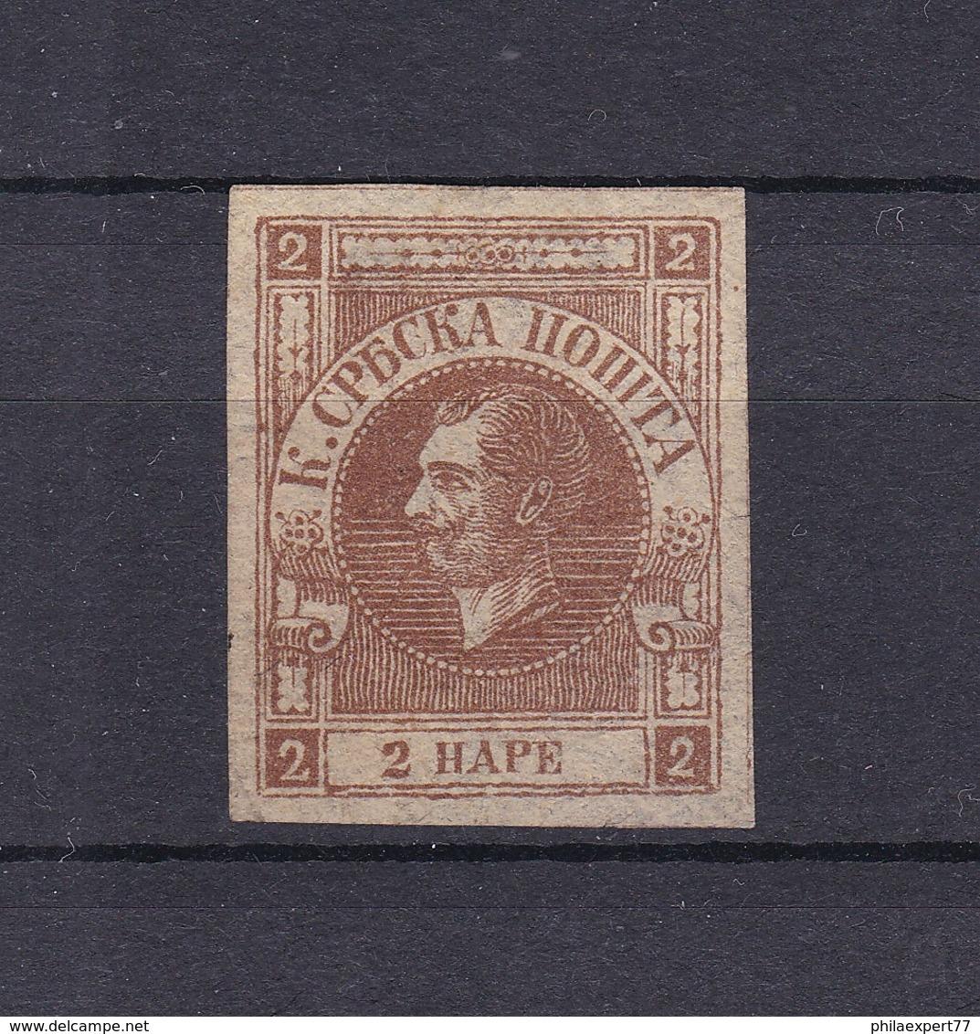 Serbien - 1867 - Michel Nr. 10 B - 60 Euro - Serbien