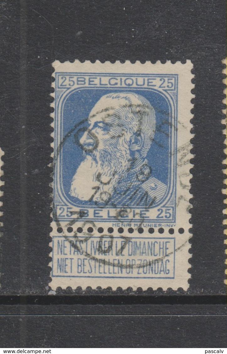 COB 76 Oblitération Centrale OSTENDE - 1905 Grosse Barbe