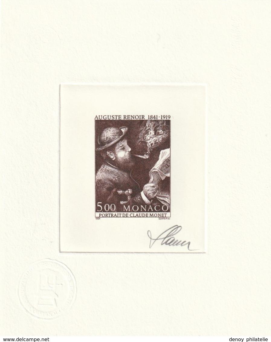 Monaco Epreuve D'Artiste Avec épreuve En Négatif Du N° 1789 Claude Monet - Monaco