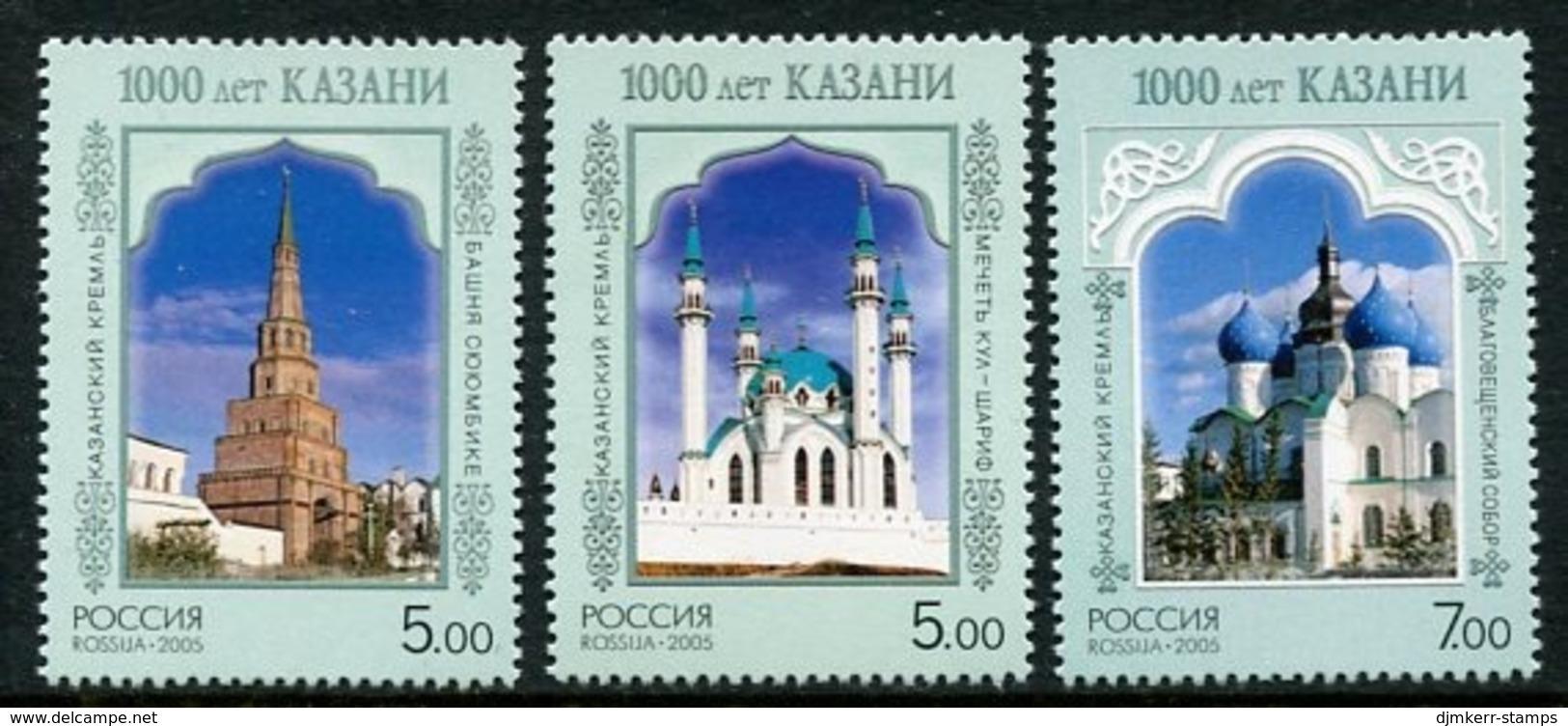 RUSSIA 2005 Millenary Of Kazan  MNH / **.  Michel 1240-42 - 1992-.... Federazione
