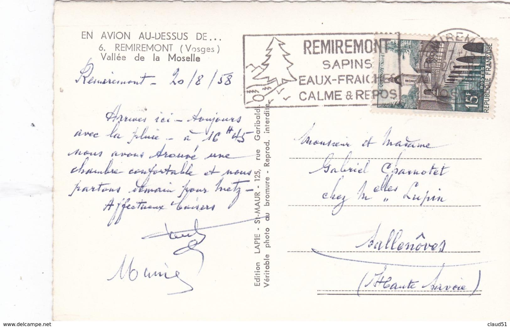 En Avion Au Dessus De Remiremont (88) Vallée De La Moselle - Remiremont