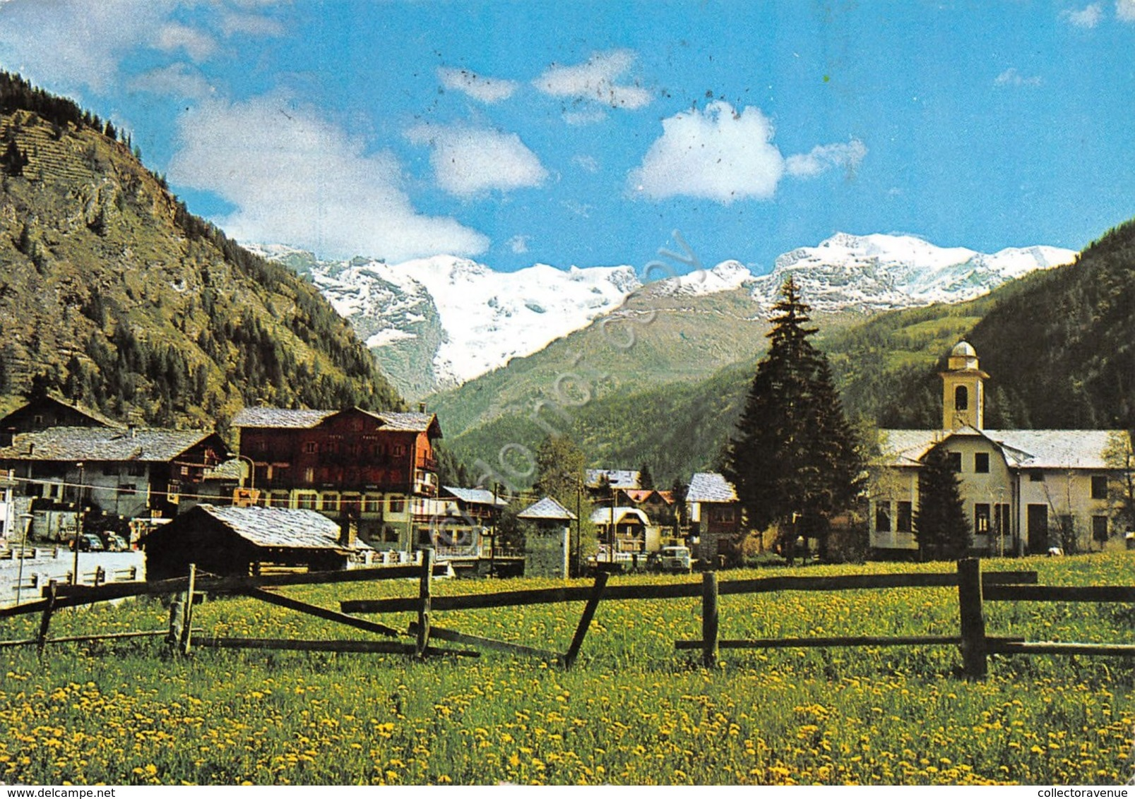 Cartolina Champoluc Panorama Parziale 1973 Timbro 113 - Italy