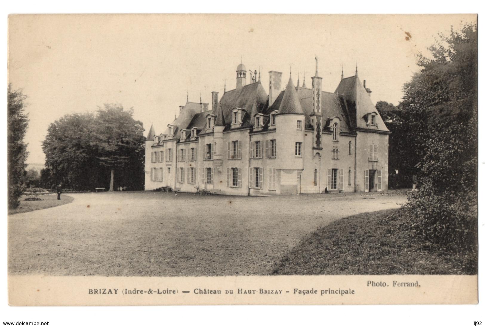 CPA 37 - BRIZAY (Indre Et Loire) - Château Du Haut Brizay. Façade Principale - Autres Communes
